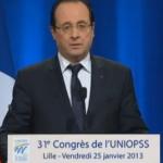 Le discours de François Hollande annonçant la réforme de la dépendance pour la fin de l'année 2013